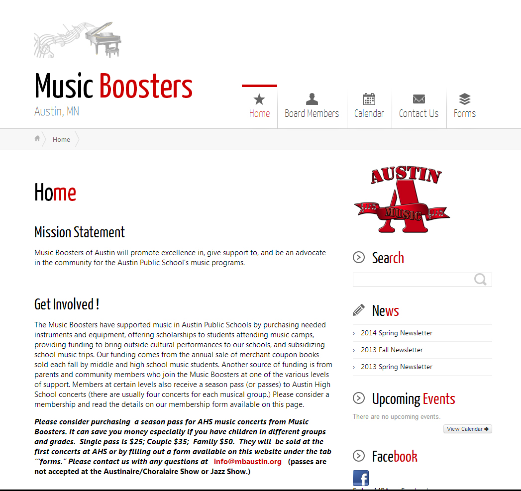 Music Boosters of Austin, Mn